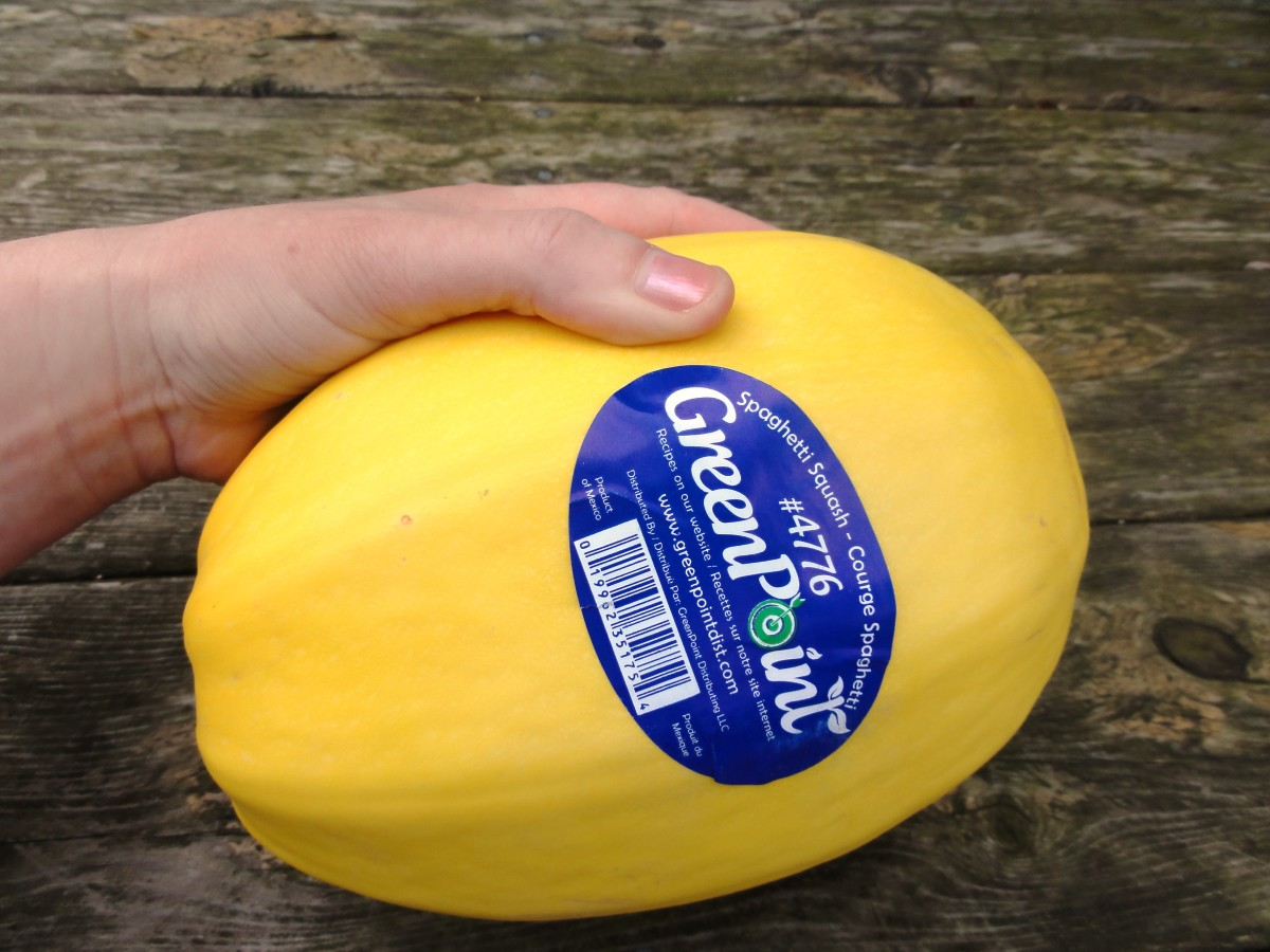 A spaghetti squash this size will feed one or two people as a main dish.