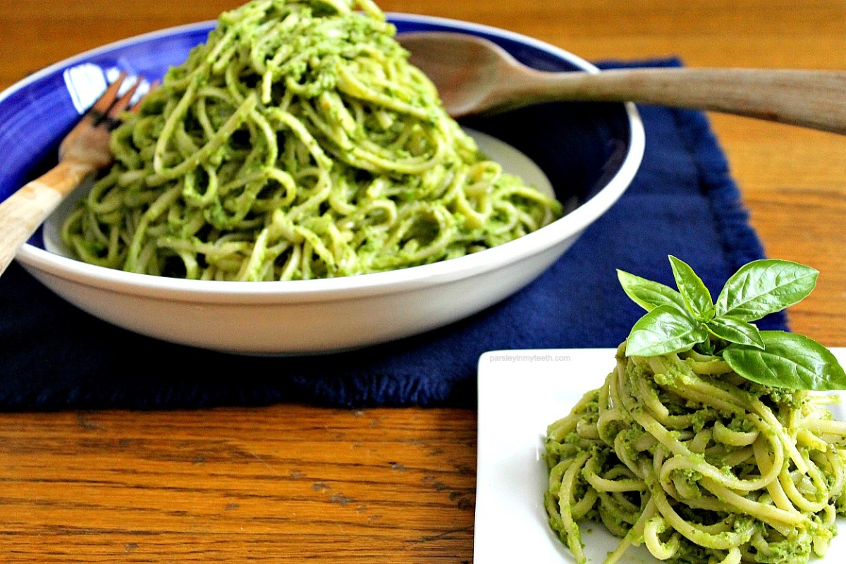 Try this recipe for green pea pesto on pasta for lunch, dinner, or as a side dish. Remember, green peas have 8 grams of protein per cup!