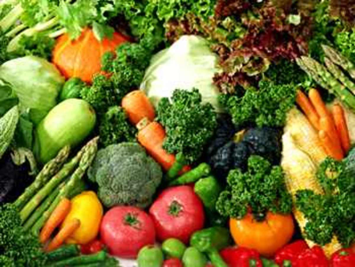 Vegetables also contain protein.