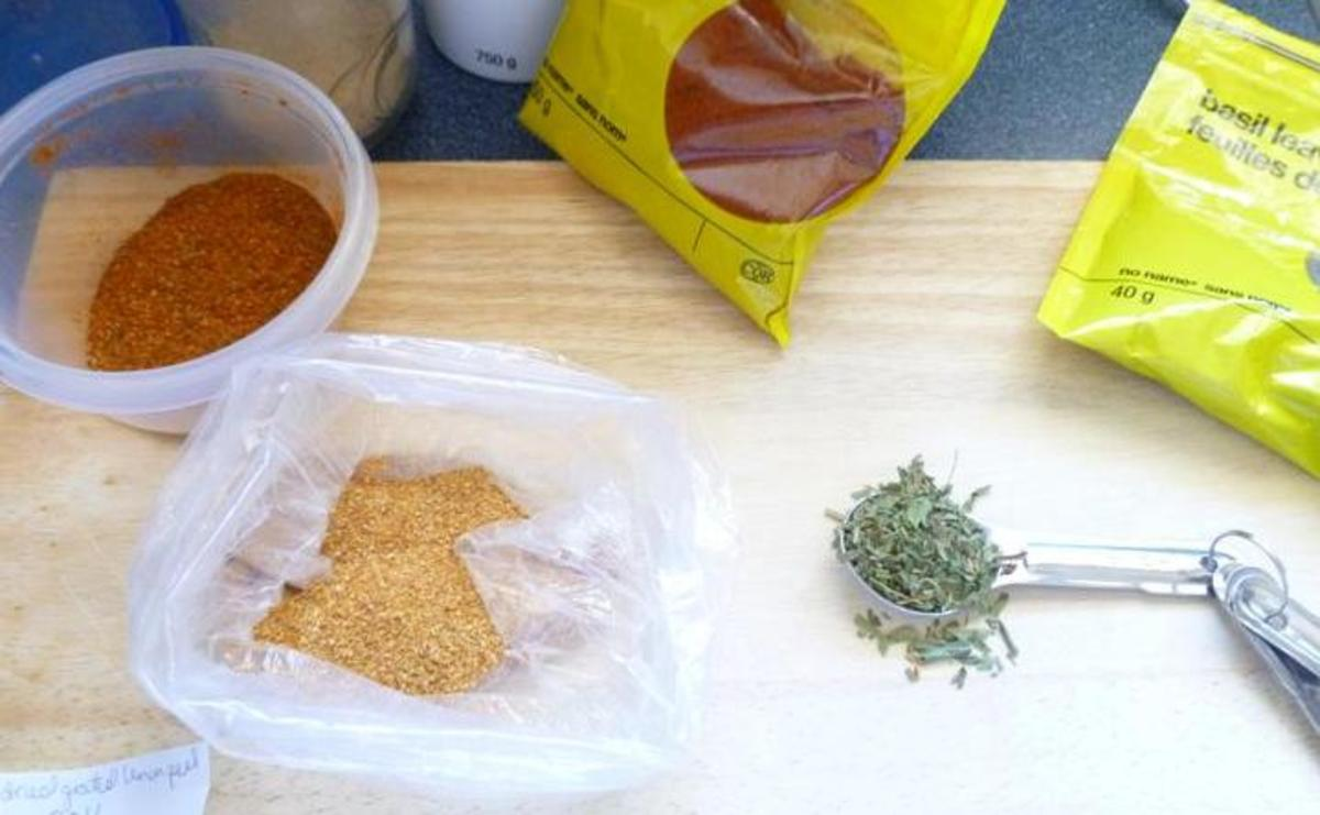 Just a few ingredients needed for this dry rub