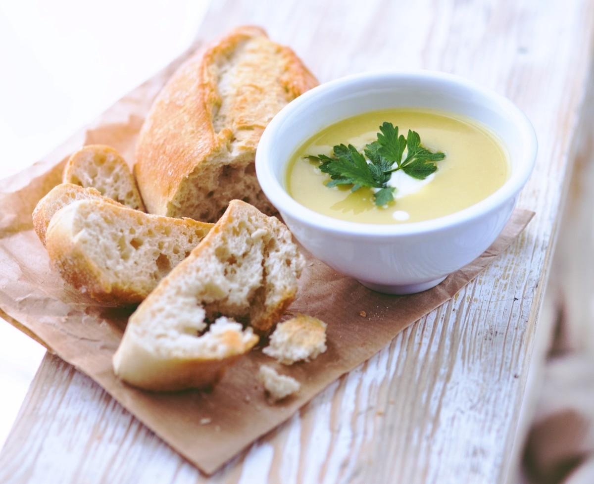 Velvety Lemon Chicken Soup