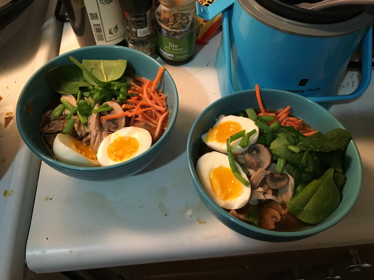 Chicken ramen made at home