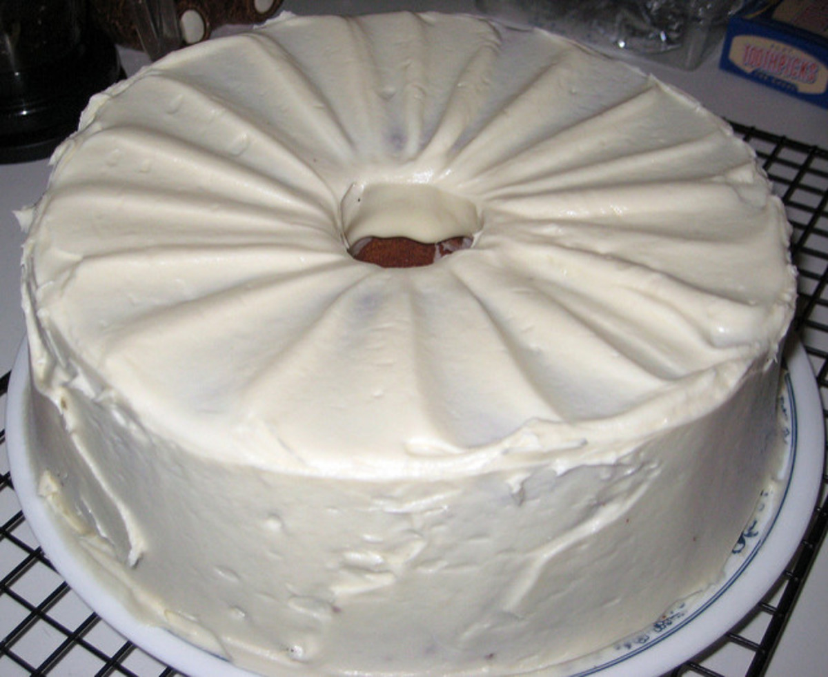 Brown Sugar Pound Cake with Cream Cheese Frosting