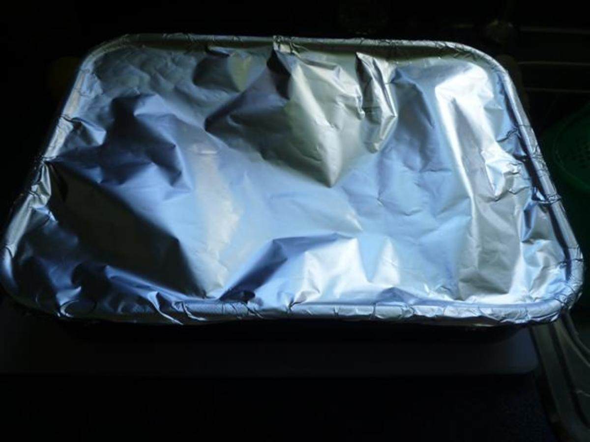 Cover the pan tightly with heavy-duty foil wrap.