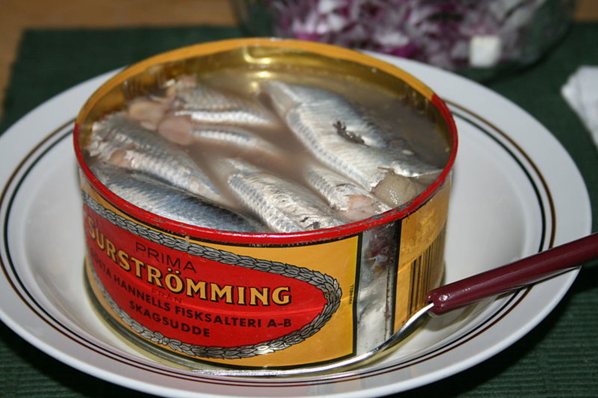 A tin of surströmming.