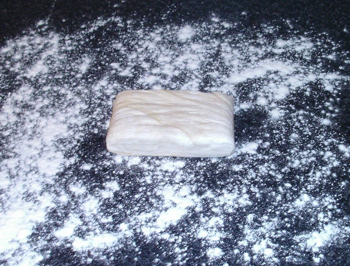 Puff pastry ready for rolling