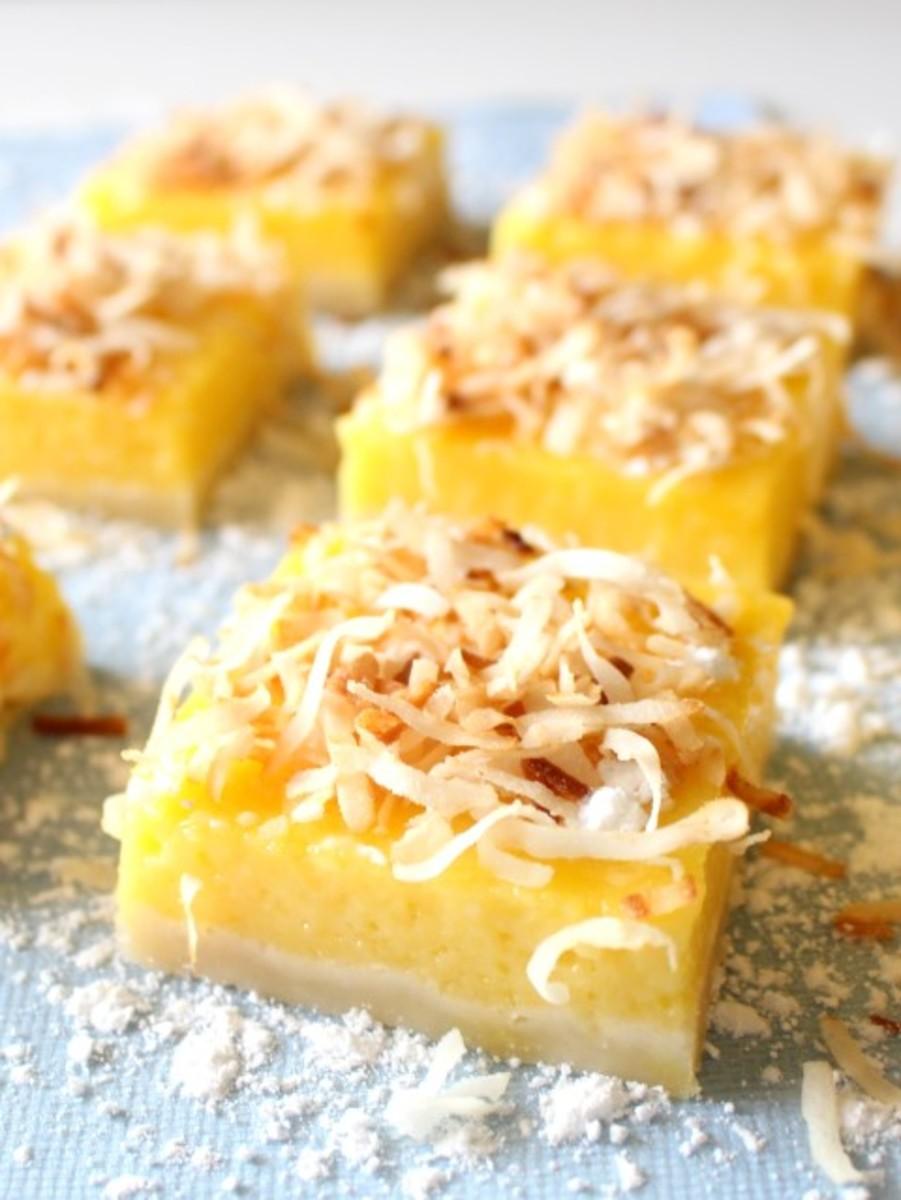 Mango Lemon Bars