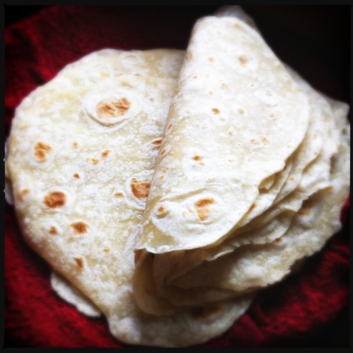 Bread Machine Flour Tortillas