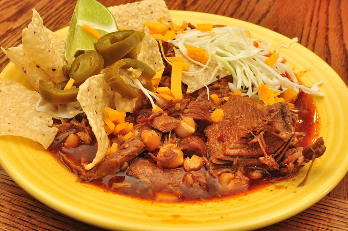 Pozole (Mexican Pork and Hominy Stew)