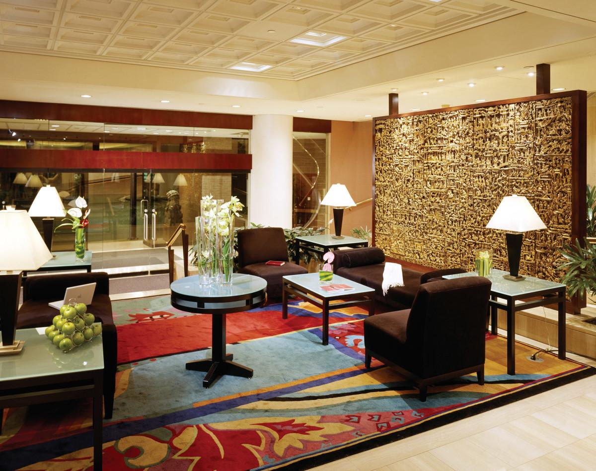 The lobby at the Metropolitan.