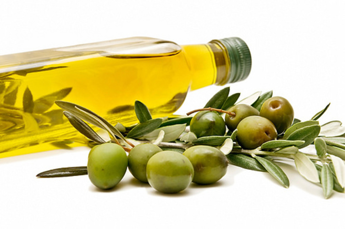 Olive oil is one of the most likely food products to be adulterated. Often cheap oil is coloured with a green dye.