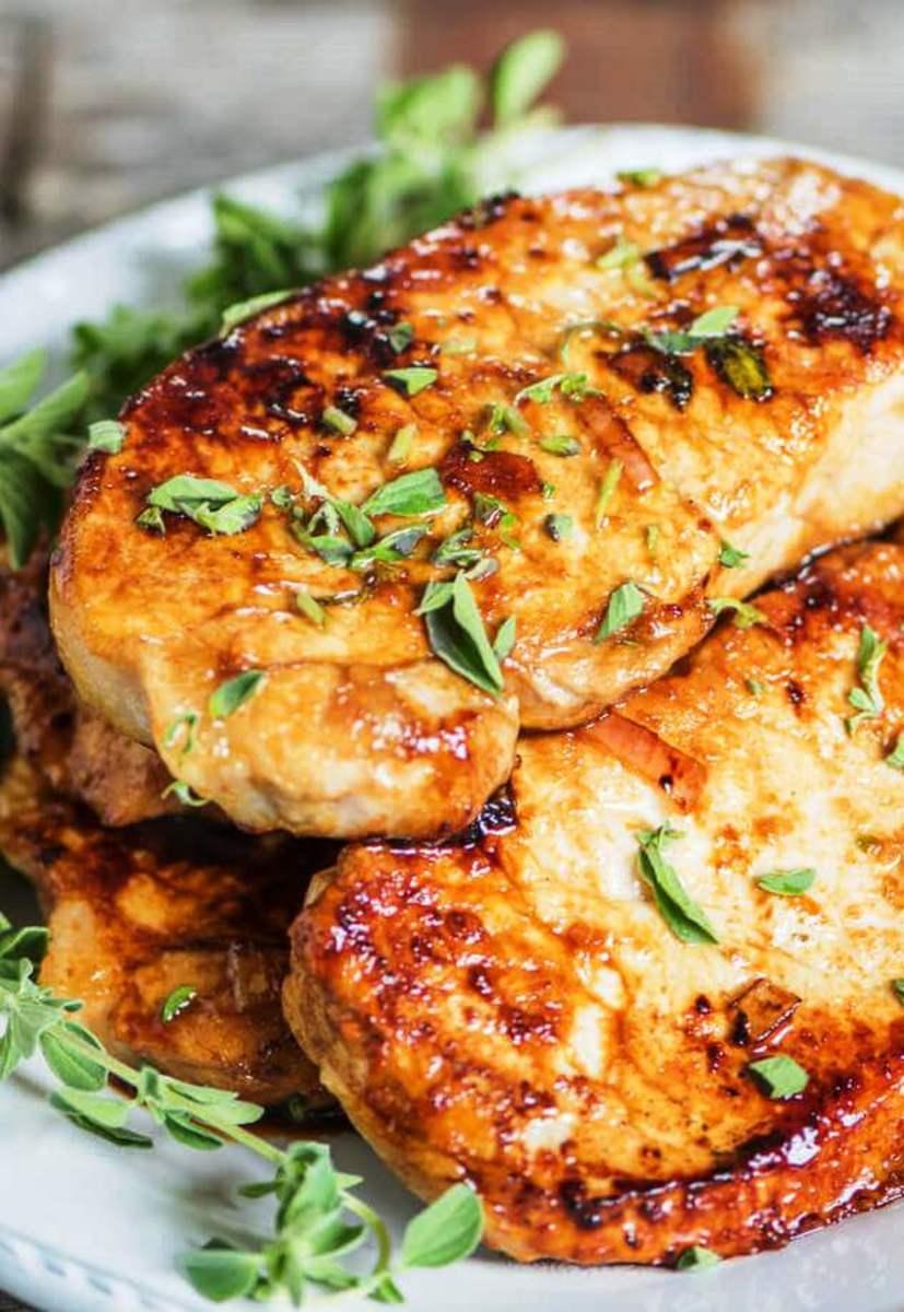Honey oregano pork chops