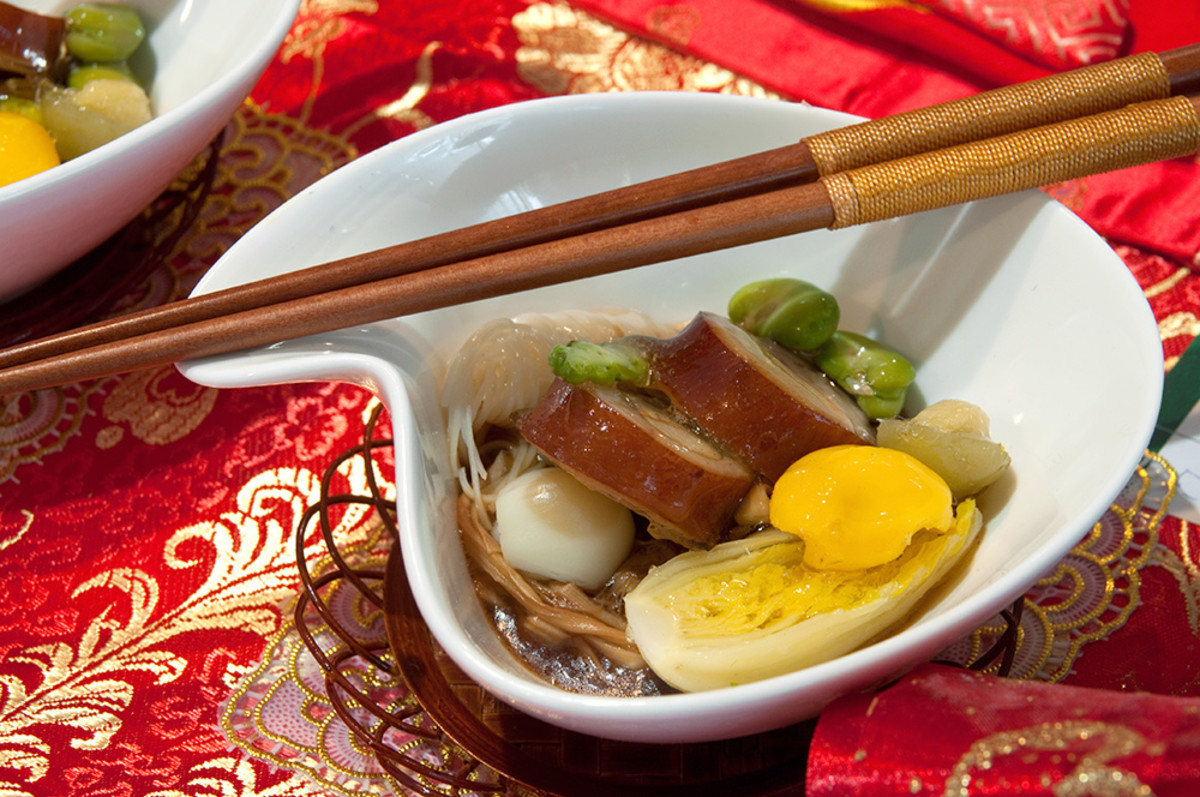Noodles symbolizes longevity to the Chinese during festive gatherings.