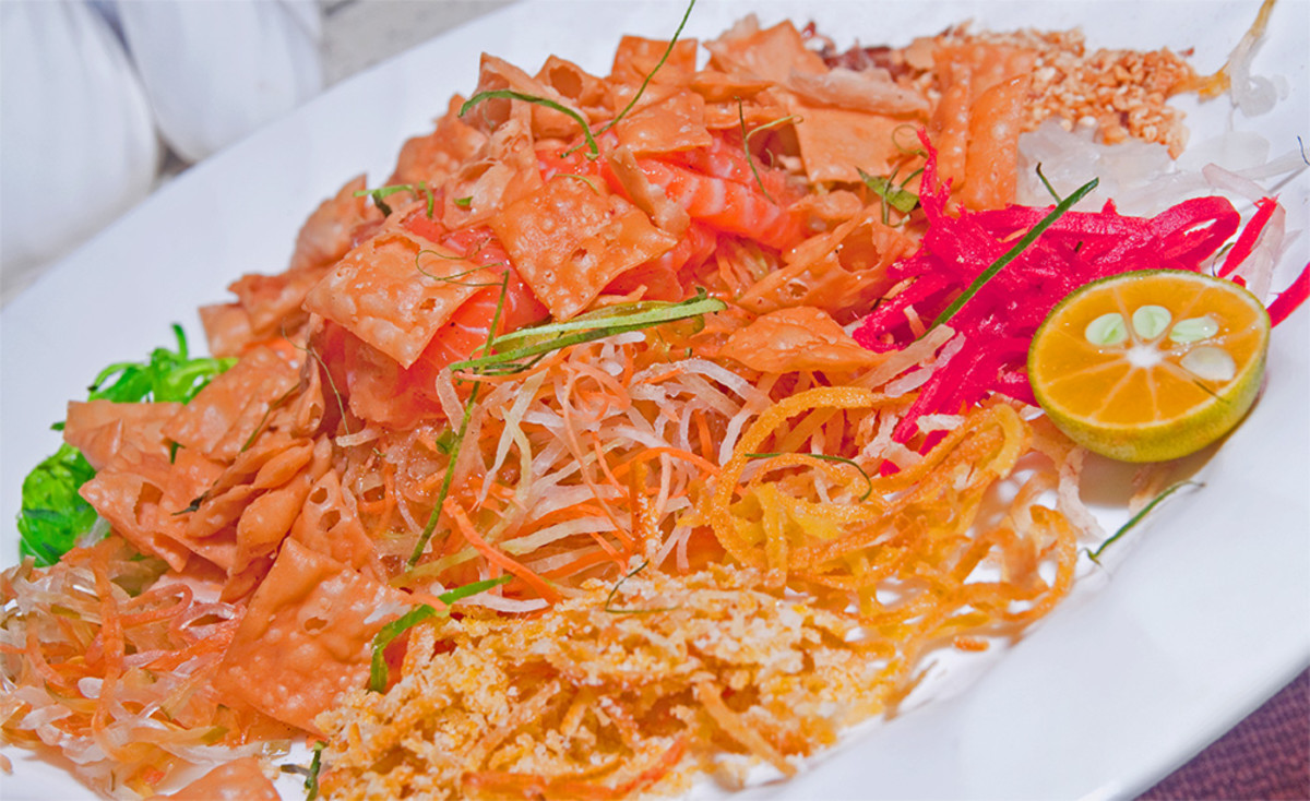 Yu sheng. The most colorful and elaborate of all Chinese New Year foods.
