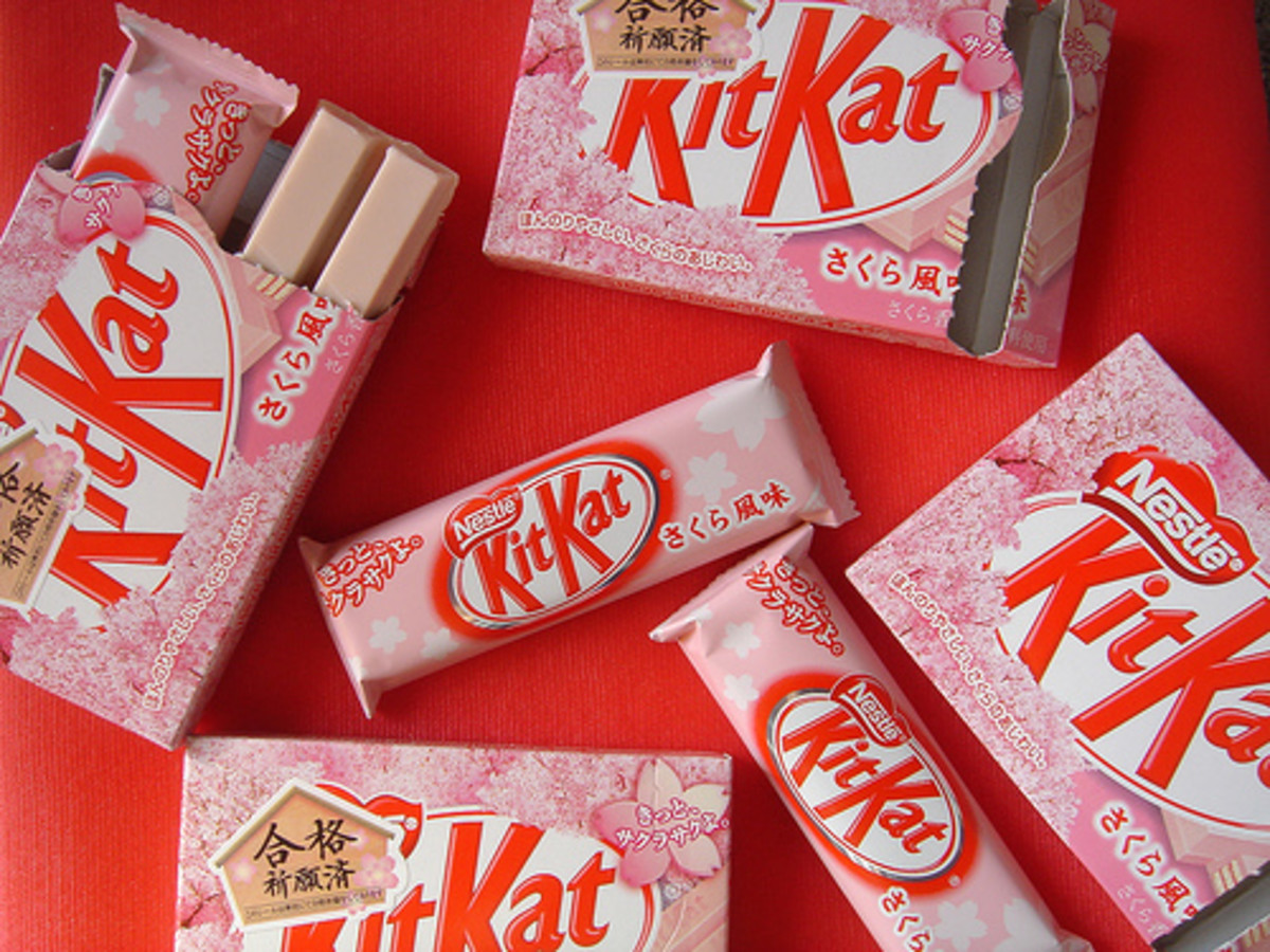 Cherry blossom Kit Kats are so cute!