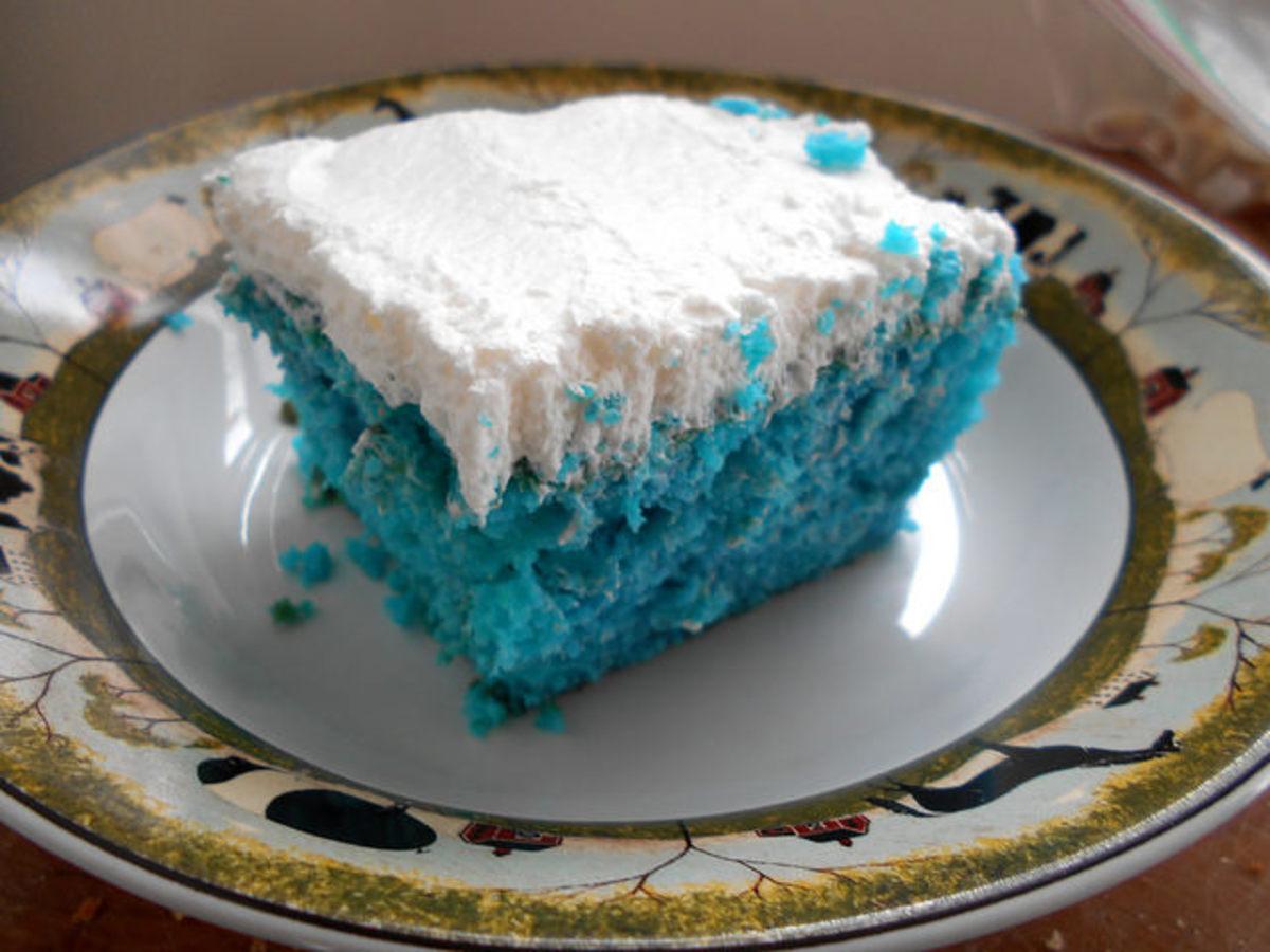 Granny's Rainbow Poke Cake