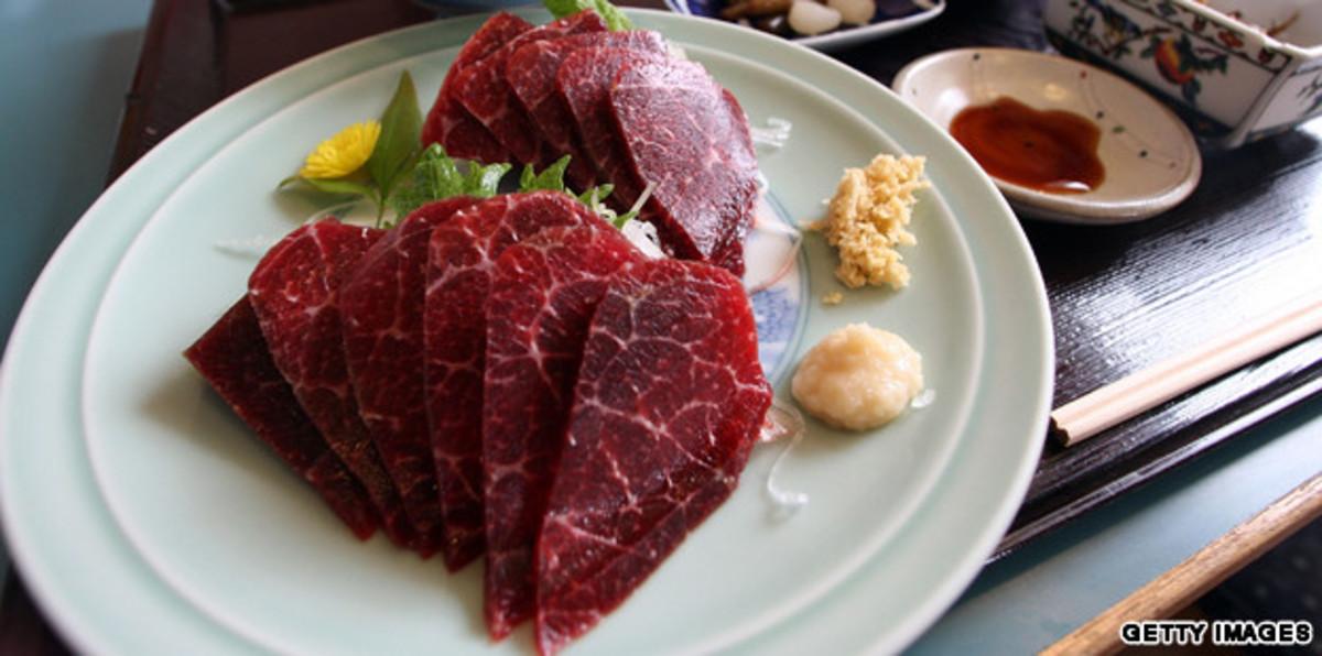 Whale sashimi.