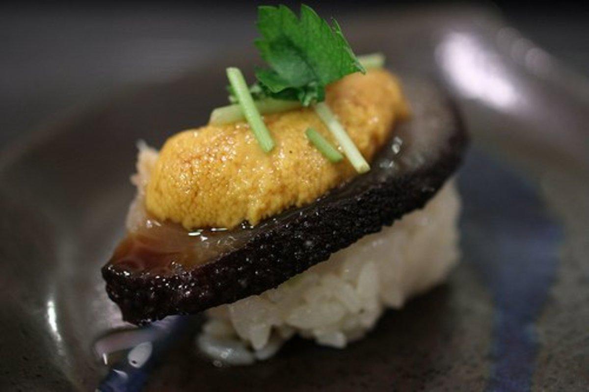 Sea cucumber sushi!