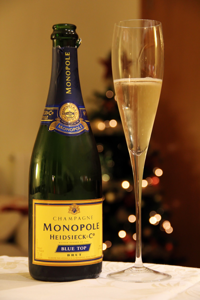 A bottle of Heidsieck & Co. Monopole Champagne.