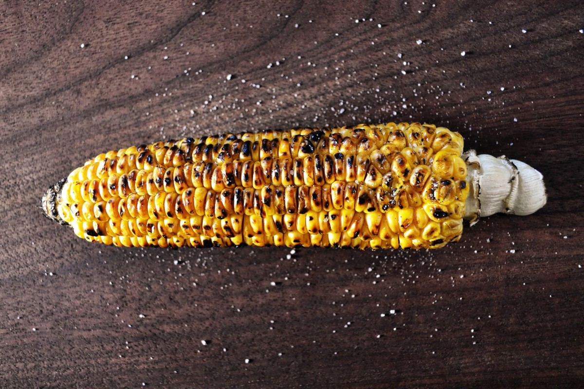 fresh gilled corn