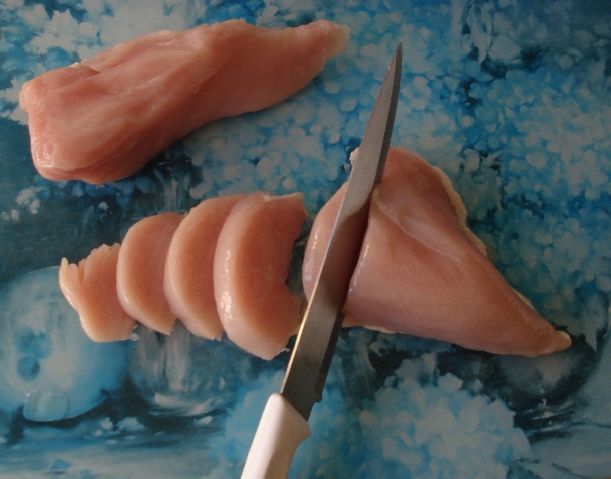 Slicing the Chicken Breast