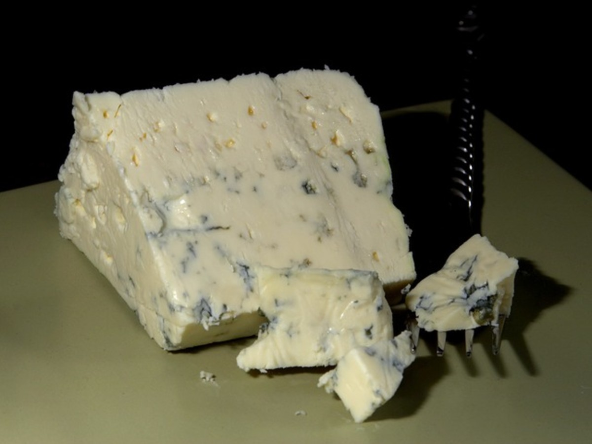 Blue cheese is a tangy addition in this recipe.