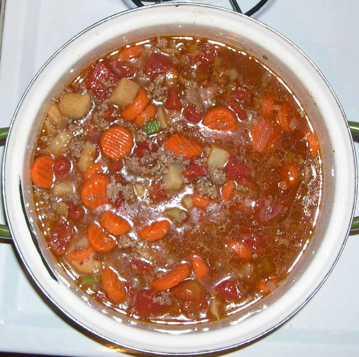ground beef veggie soup