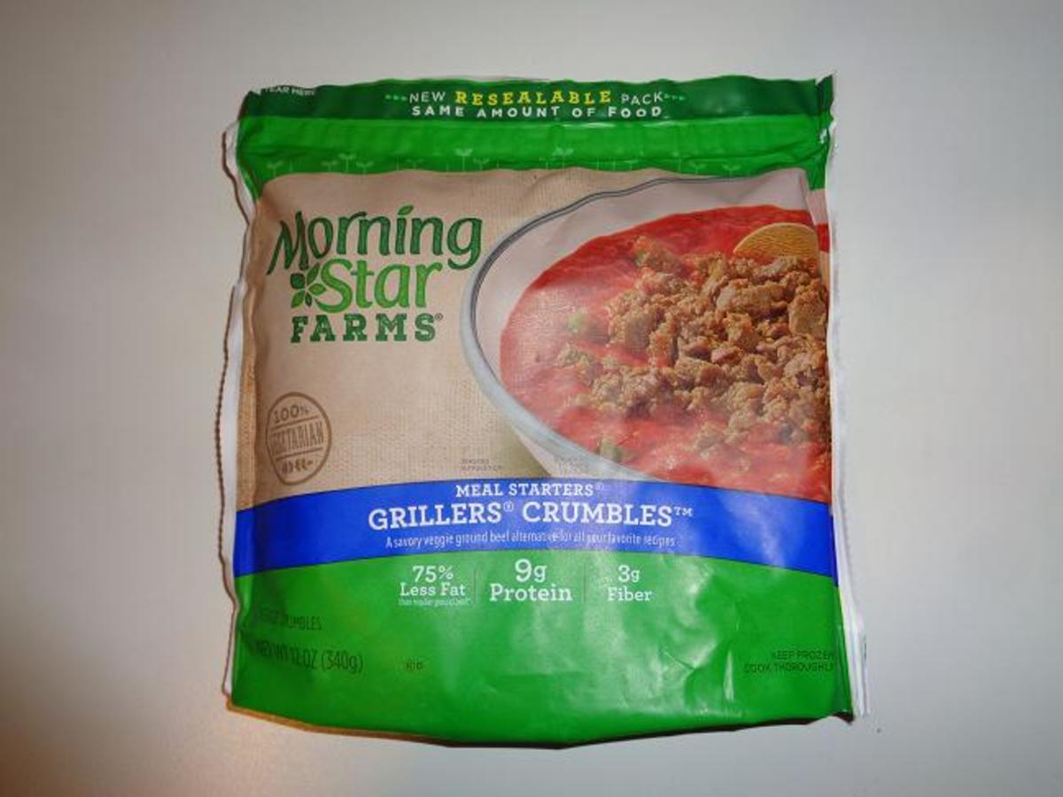 Grillers Crumbles by Morningstar Farms.