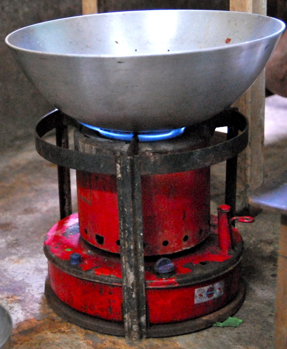 Grandma's kerosene stove.