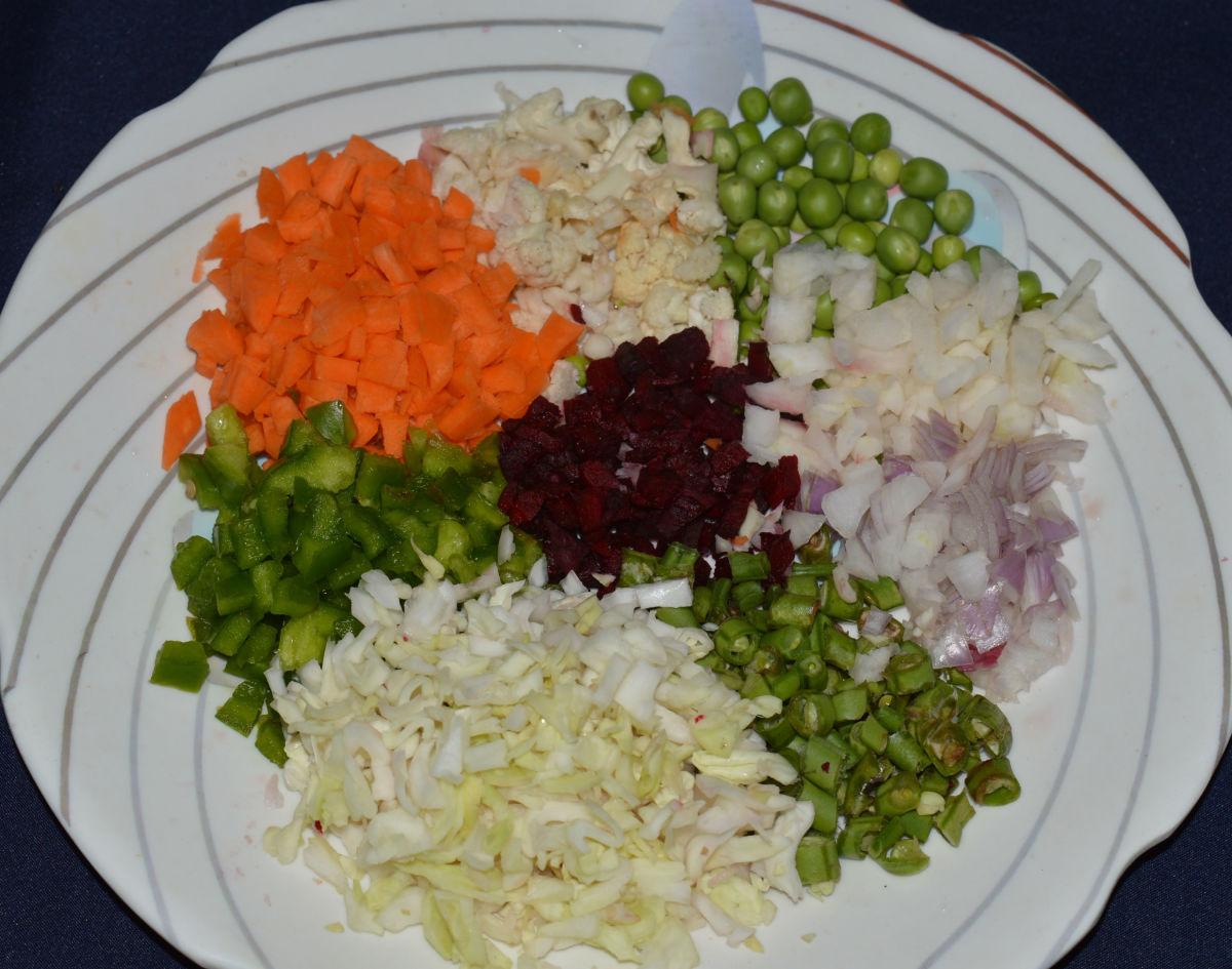 Vegetables for cutlets