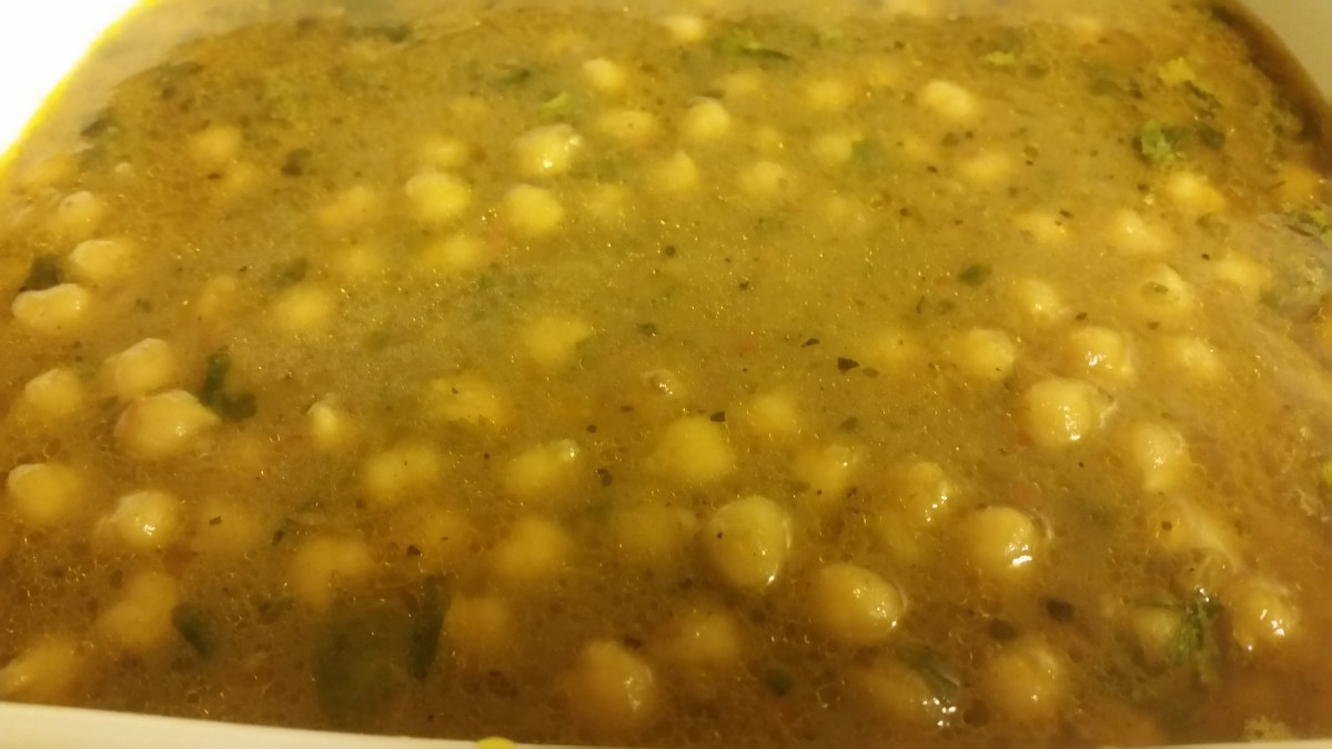 Then: Enjoy chickpea curry!