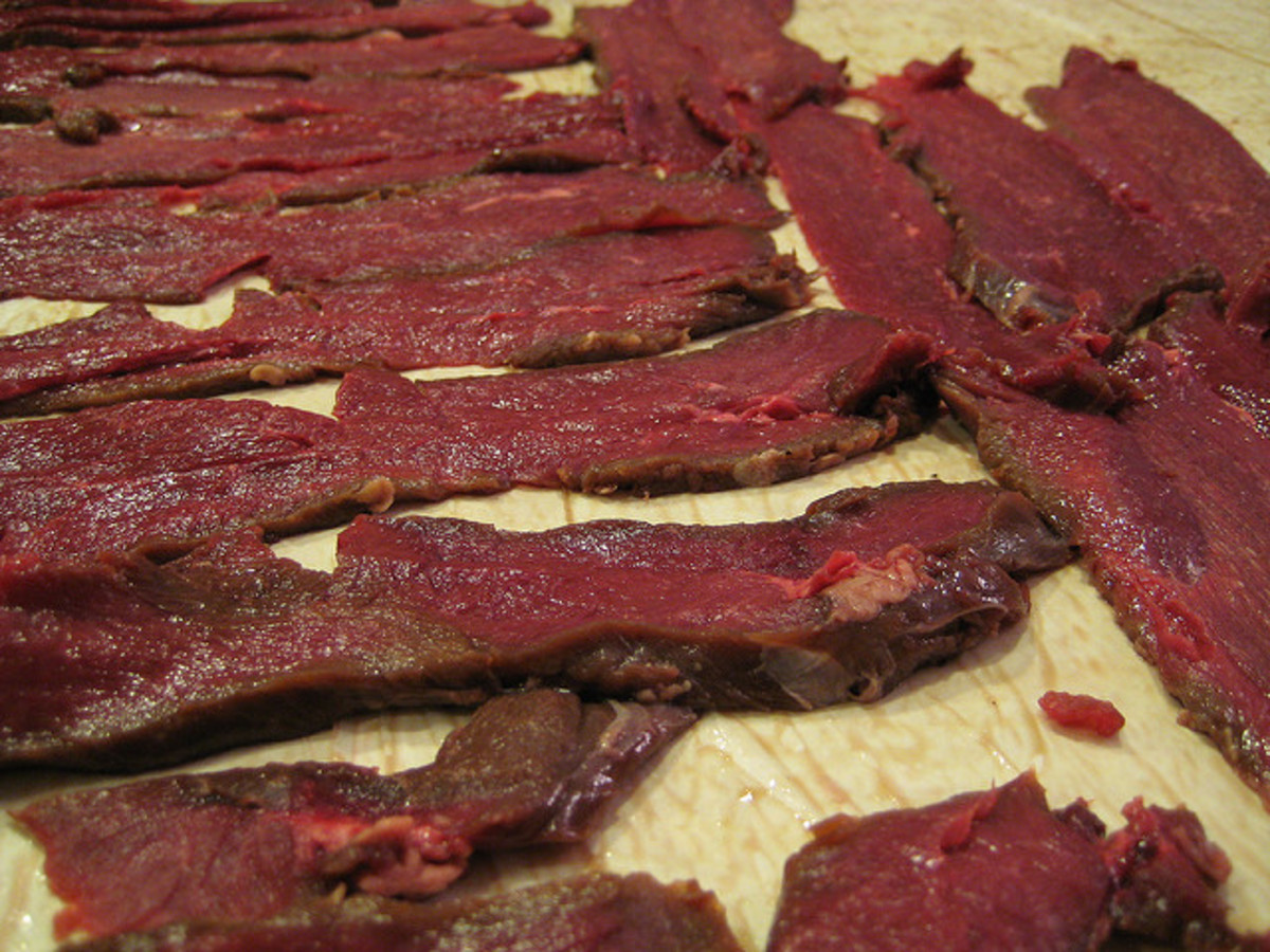 Venison Deer Jerky Ready to Dry