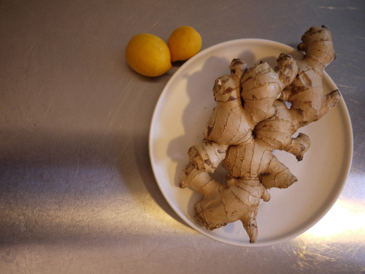 For this recipe, you only need 5-6 oz of ginger. I bought twice as much as I need.