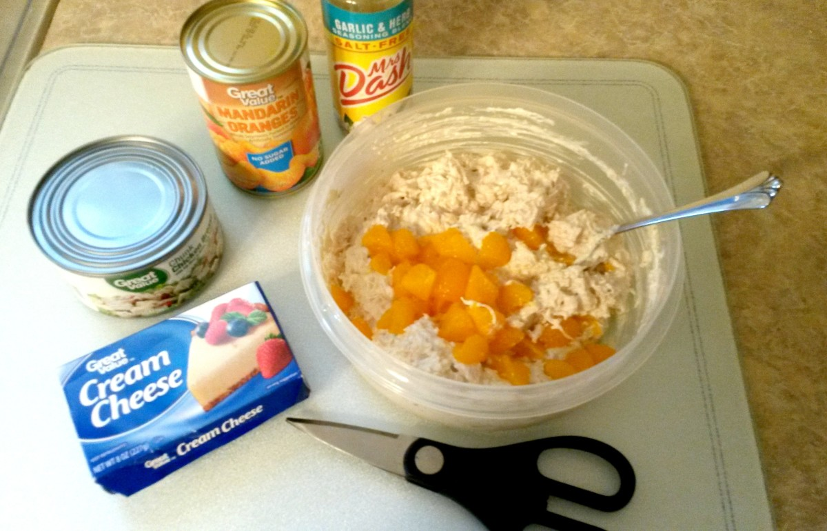 Ingredients needed to prepare this chicken salad recipe.