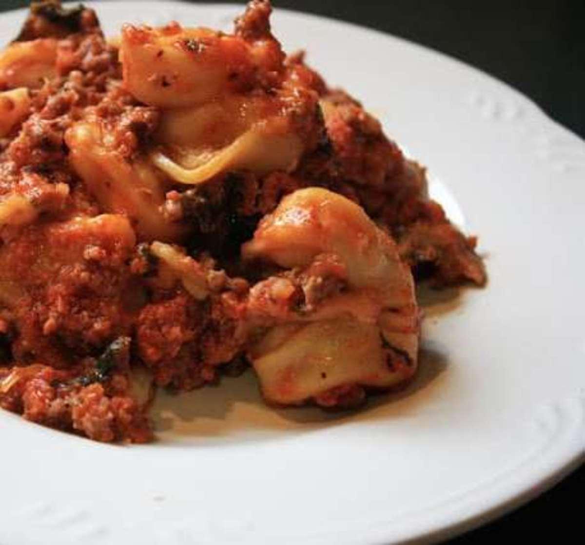 """Crock Pot Tortellini """"Lasagna"""""""
