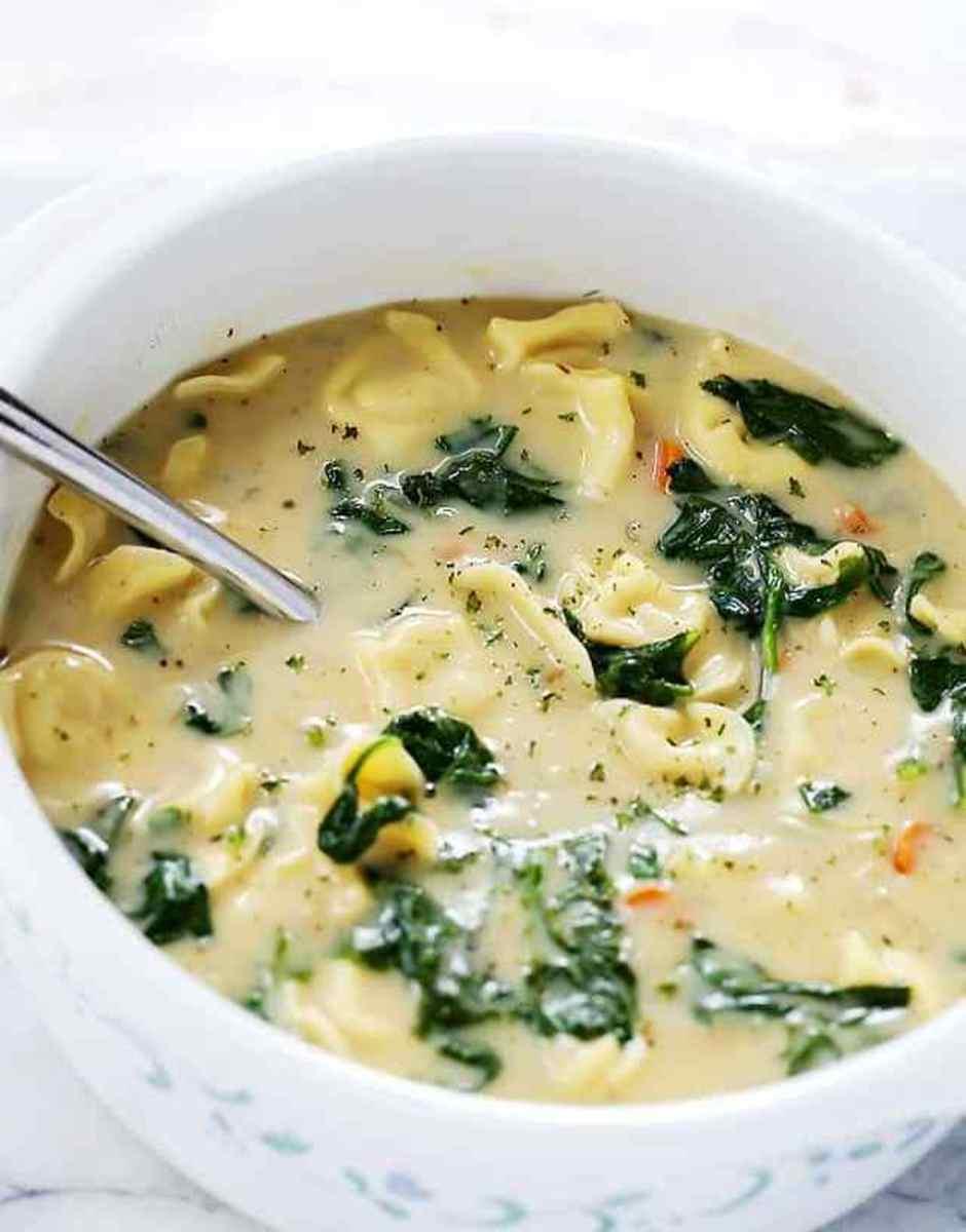 Creamy One-Pot Tortellini Soup