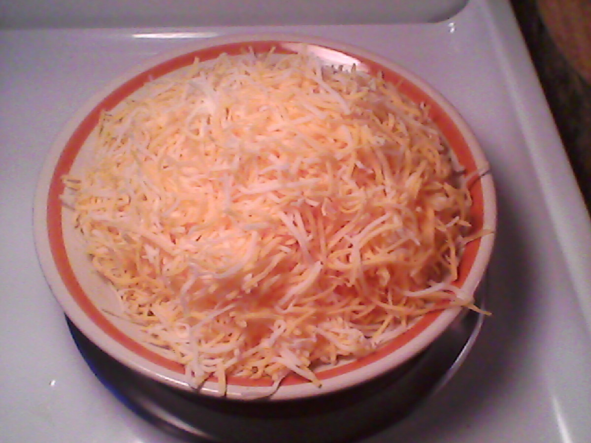 Combination shredded colby jack