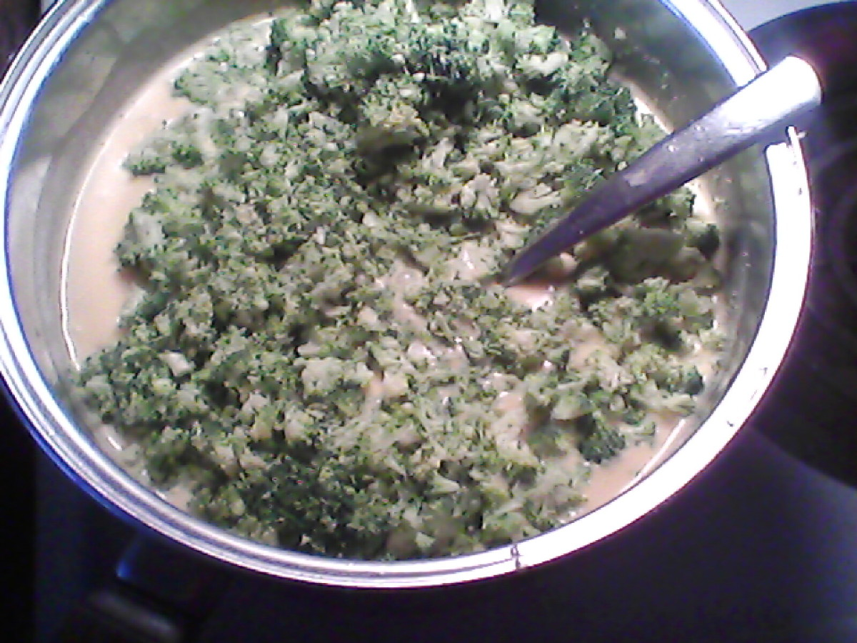 Stirring in broccoli
