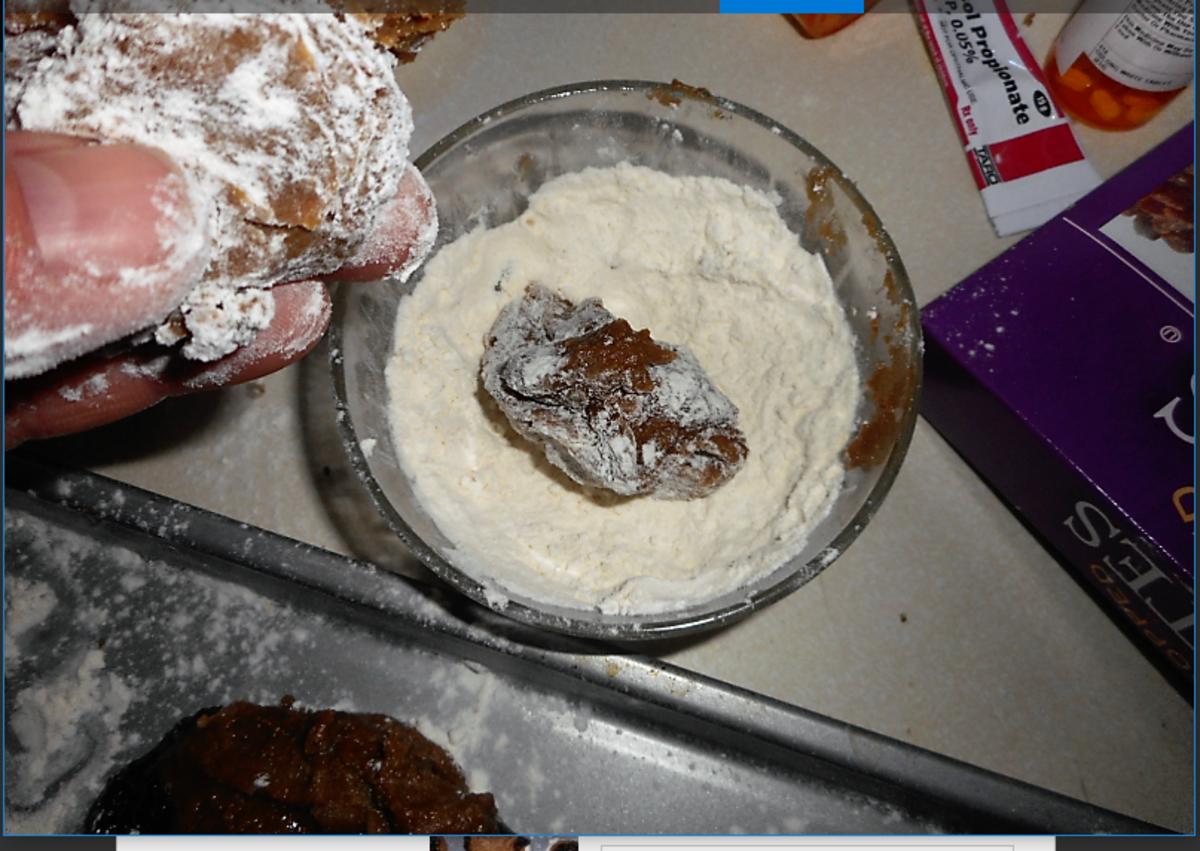 Coat Dough Ball With Flour First