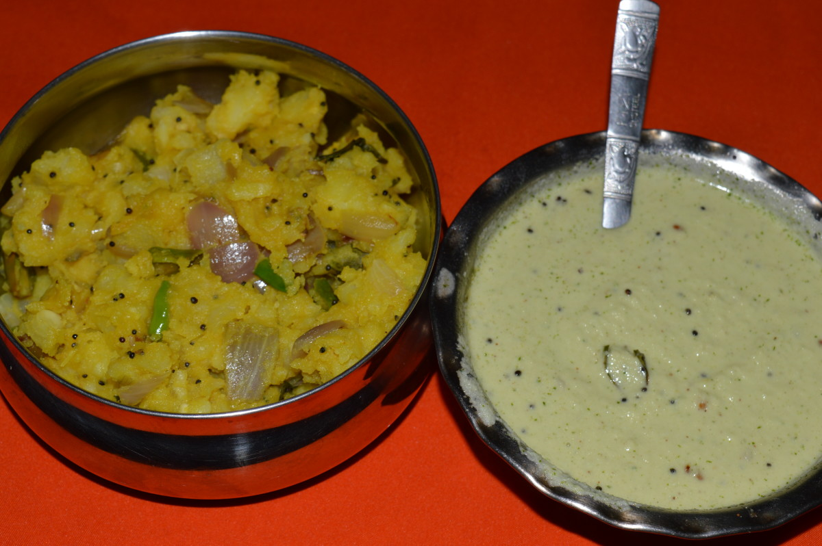 palya/curry and chutney together