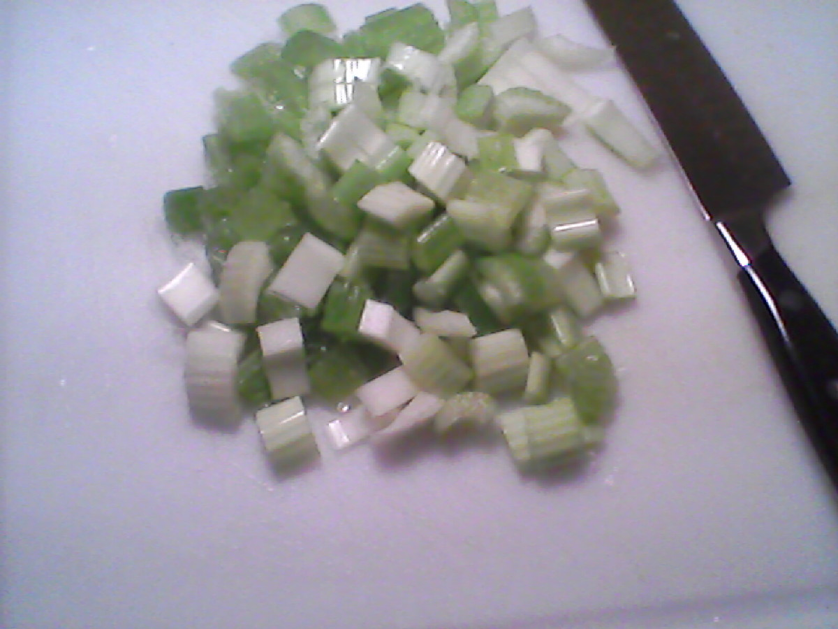 Prep Work:  Chopping the celery