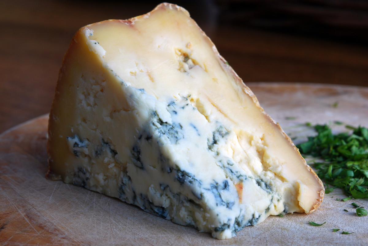 Stilton Cheese contains penicillin. So do Roquefort, Danish Blue, Gorgonzola, and a few other cheeses.