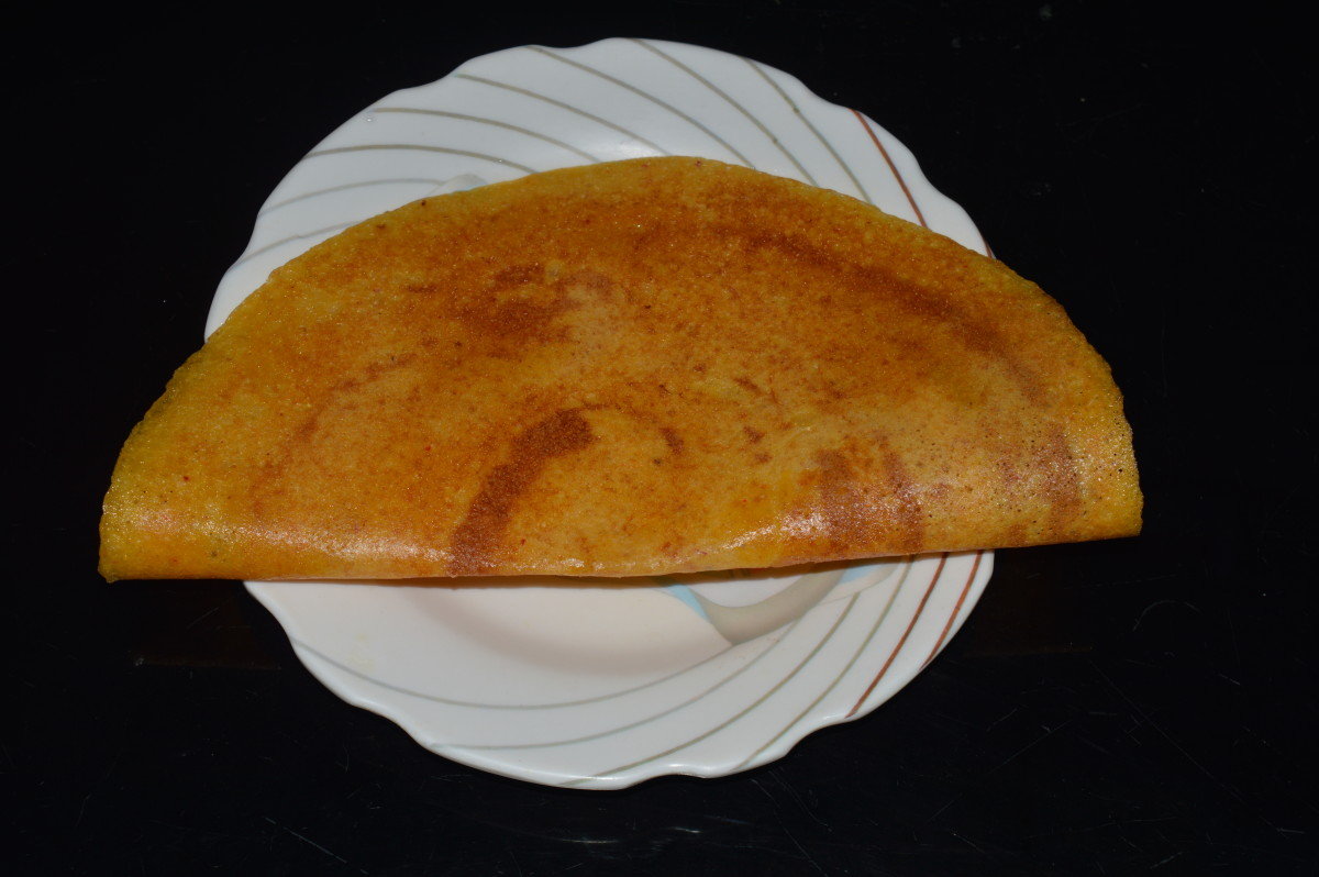 Carrot Dosa (Crepe)
