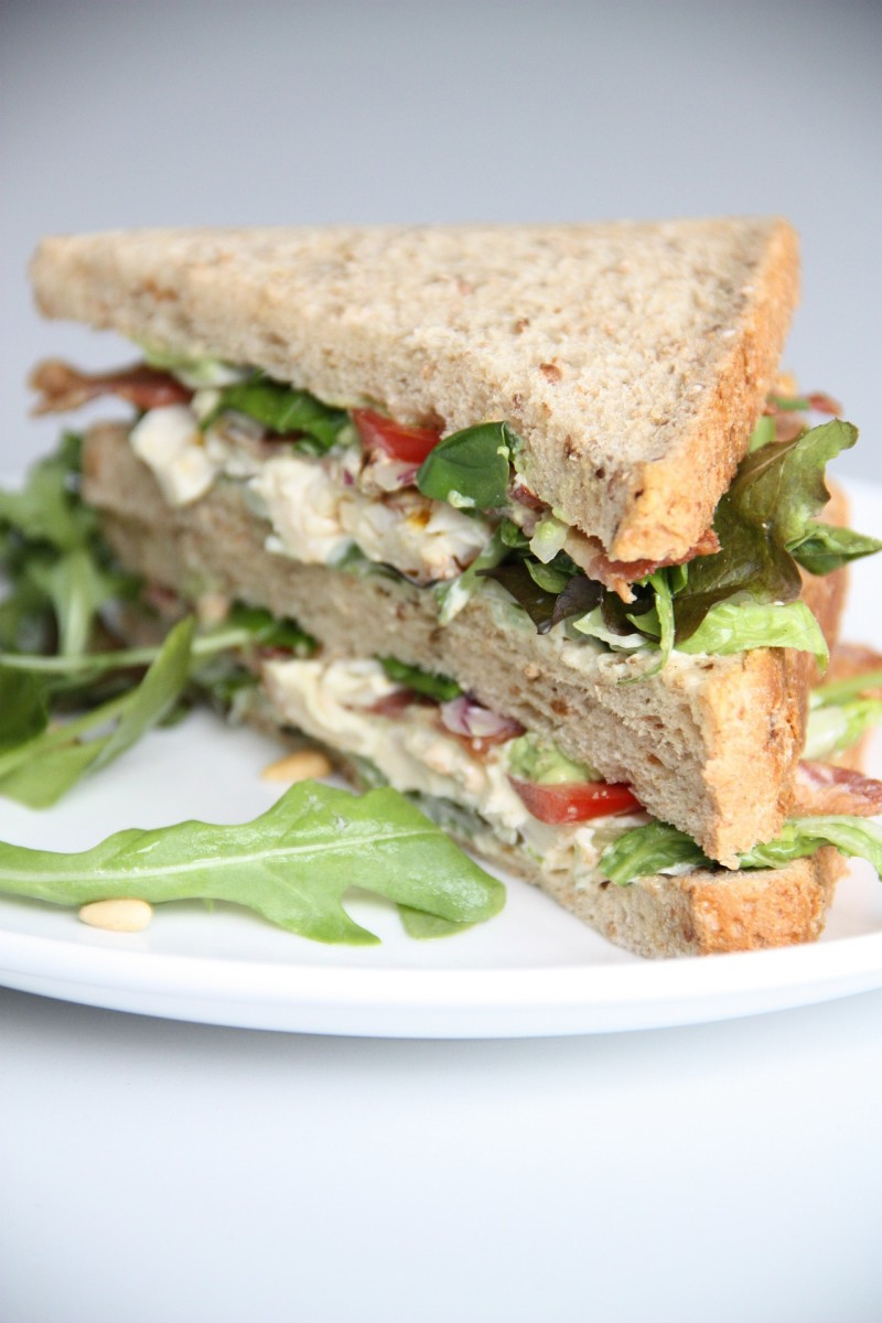 Leftover roast chicken makes a great sandwich filler.