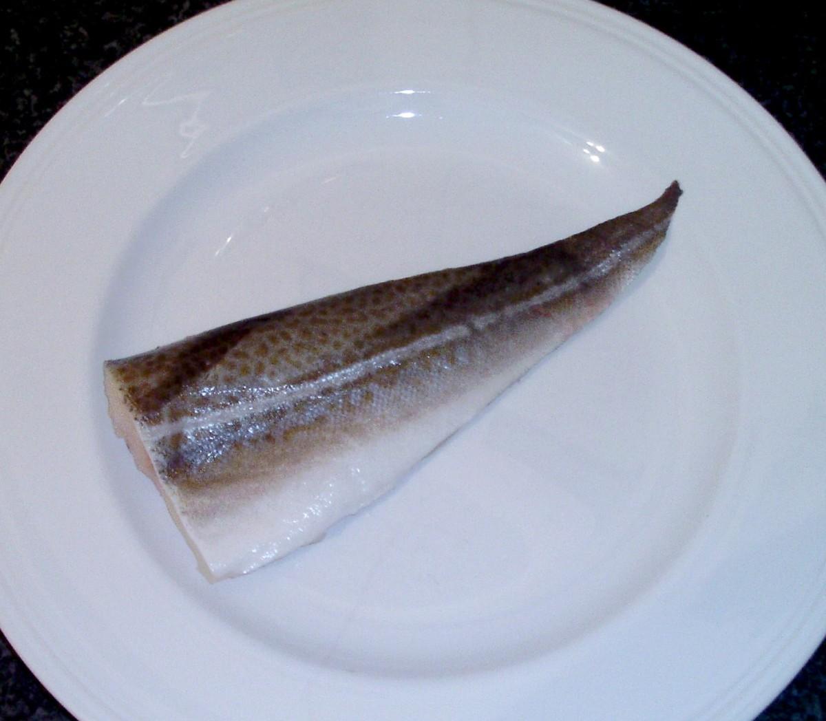 Fresh cod fillet