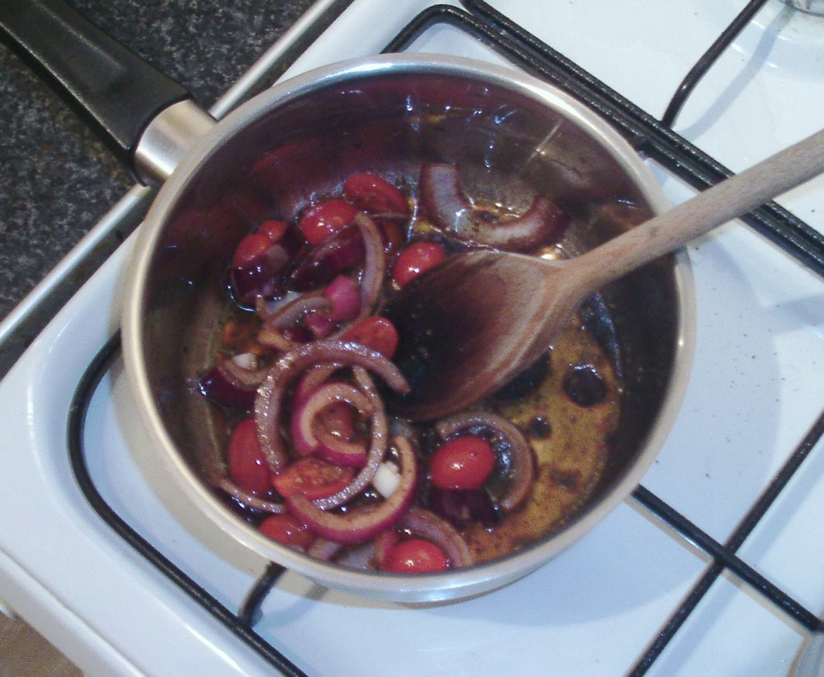 Chutney is simmered to reduce