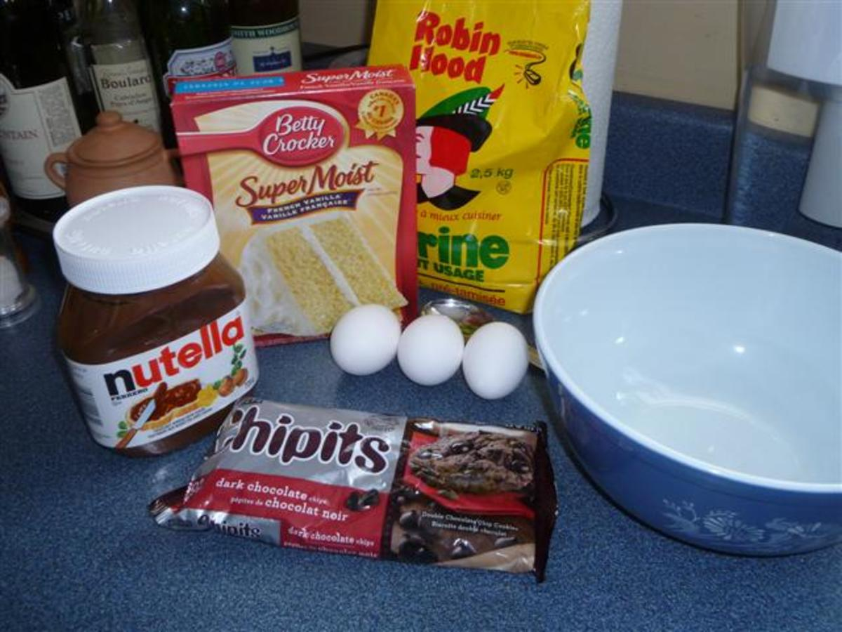 Just a few ingredients needed to make these muffins.