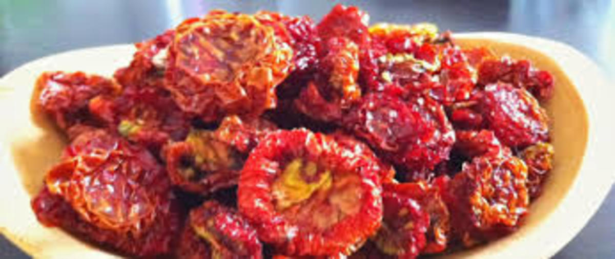 Sun-dried tomatoes.