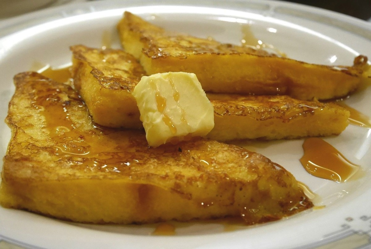 French toast is a delicious way to use stale bread