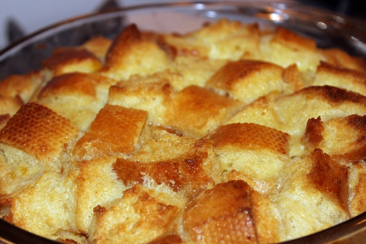 Bread pudding makes a yummy dessert, and is a very frugal way to use up bread that has gone stale